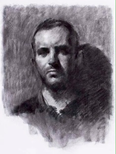 Nick. 70x50cm. Charcoal on Ingres paper.