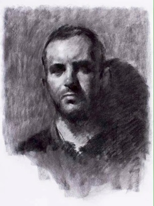 Nick ~ Charcoal on Ingres paper, 70x50cm. Madrid, Spain