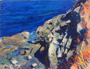 Cliffs at Pipers Lagoon ~ Oil on canvas, 70x90cm. Vancouver Island, Canada