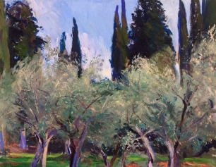 Olive Grove ~ Oil on canvas, 70x90cm. Florence, Italy