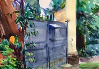 Garden Gate. 36x51cm. Florence, Italy