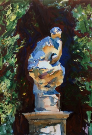 Sculpture in Sun and Shade. 51x36cm. Boboli Gardens. Florence, Italy