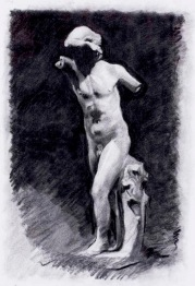 Roman Sculpture. 70x50cm. Museo del Prado, Madrid.