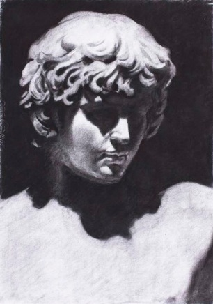 Anthony ~ Charcoal on Ingres paper. 90x70cm. Prado Museum. Madrid, Spain