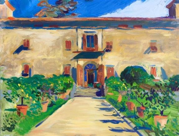 Villa Medicea di Lilliano. 70x90cm. Florence, Italy