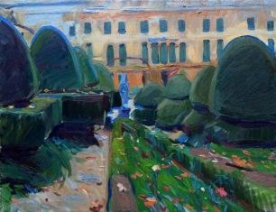 Villa Pisani, Autumn ~ Oil on canvas, 70x90cm. Veneto, Italy