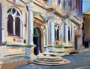 San Rocco ~ Oil on canvas, 70x90cm. Venice, Italy