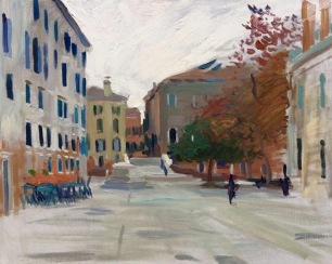 Campo dei Gesuiti ~ Oil on canvas, 80x100cm. Venice, Italy