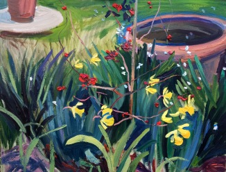Esemble of Lilies and Daffodils. 70x90cm. Florence, Italy