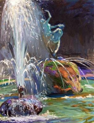 Piazza della Libertad ~ Oil on canvas, 90x70cm. Florence, Italy