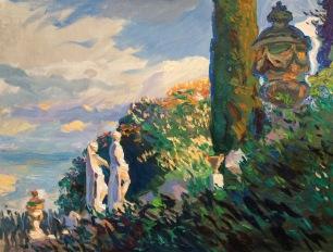 Giardino Bardini ~ Oil on canvas, 70x90cm. Florence, Italy