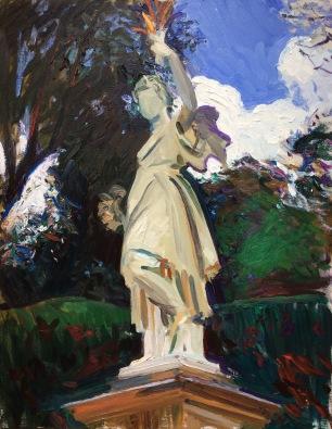 Boboli ~ Oil on canvas, 90x70cm. Florence, Italy