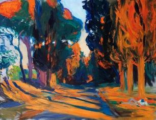 Via Appia ~ Oil on canvas, 70x90cm. Rome, Italy