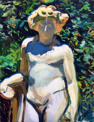 Bacchus ~ Oil on canvas, 90x70cm. Boboli Gardens. Florence, Italy