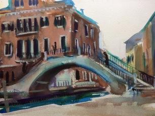 Campiello San Agostin ~ 31x41cm. Venice, Italy