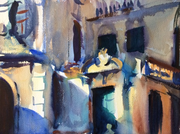 Building in Sun and Shade. 31x41cm. Venice, Italy