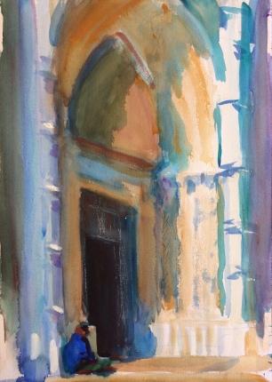 The Frari Church ~ 51x36cm. Venice, Italy