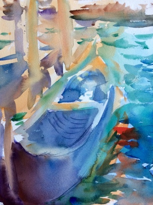 Boat at the Grand Canal ~ 41x31cm. Venice, Italy