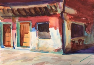 Old House in Last Summer Light ~ 36x51cm. Venice, Italy