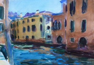 Moody Waters ~ 36x51cm. Venice, Italy