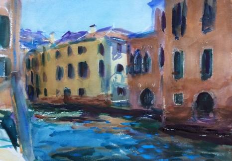 Moody Waters. 36x51cm. Venice, Italy