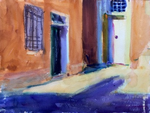 Corner in Light and Shade. 31x41cm. Venice, Italy