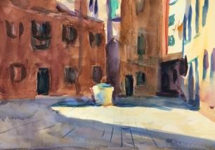 Calle Orsetti ~ 36x51cm. Venice, Italy