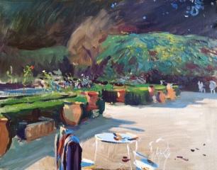 Villa Pisani ~ Oil on canvas, 70x90cm. Veneto, Italy