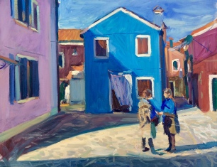 La Visitazione ~ Oil on canvas, 70x90cm. Burano, Italy