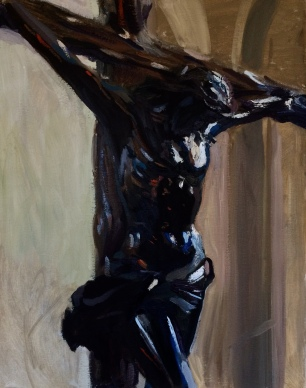 The Black Crucifix ~ Oil on cavas, 90x70cm. Burano, Italy