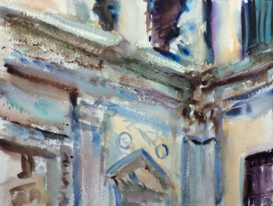 Detail of Architecture ~ Watercolor, 31x41cm. Venice, Italy