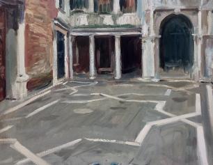 Scuola Grande di San Giovanni Evangelista ~ Oil on canvas. 70x90cm. Venice, Italy
