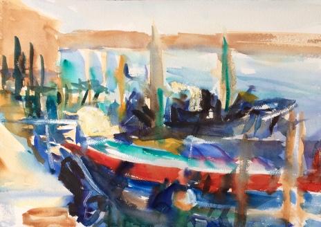 Fishing Boats. 31x41cm. Burano, Italy